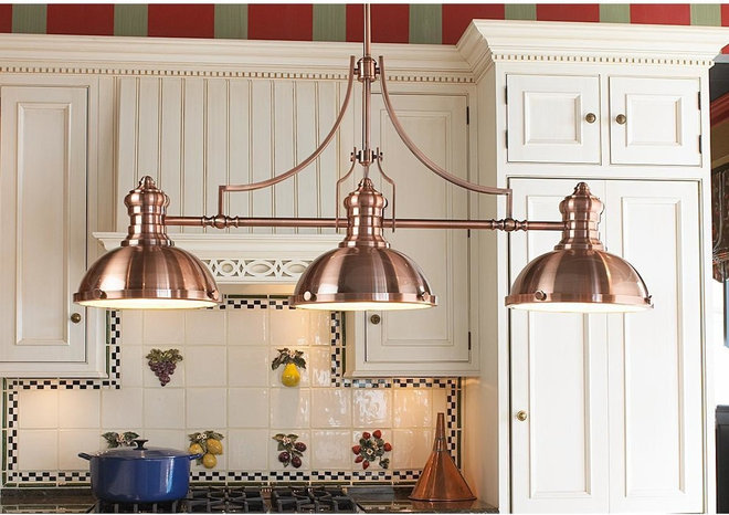 Guest Picks Dashing Lighting for Over the Kitchen Island