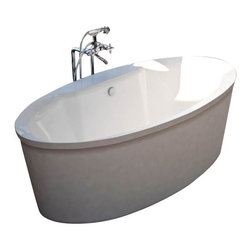 Spa World Corp - Atlantis Tubs 3468SS Suisse 34x68x24 Inch Freestanding Soaker Bathtub - The Suisse series features contemporary oval design. The increased interior depth allows bathers to enjoy the true deep soak, turning each bathing session into an unforgettable experience. Soaking bathtubs are a more Traditional style bath tub without water or air systems. Soaking in warm water will sooth the body, boost cardiac output, lower blood pressure and improve circulation. Water also hydrates the skin and helps pores eliminate toxins. Freestanding tubs are meant to be proudly displayed rather than crowded in a corner and add character to your bathroom.