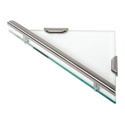 Geesa - Triangular Clear Glass Bathroom Shelf - Shelf triangular.