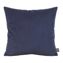 Howard Elliott - Bella Royal 20 x 20 Pillow - Change up color themes or add pop to a simple sofa or bedding display by piling up the pillows in a multitude of colors, textures and patterns. This Bella pillow features a lush velvet in a bold royal blue.