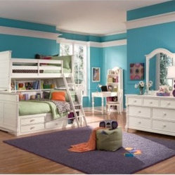 Hannah Twin over Twin Bookcase Storage Bunk Bed