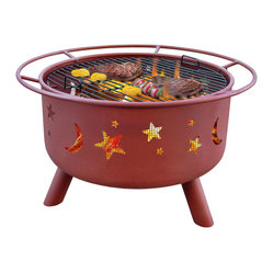Big Sky Stars & Moon Georgia Clay Fire Pit