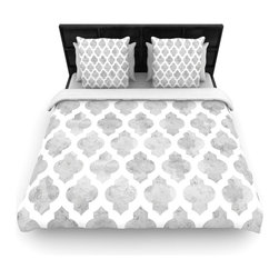 """Kess InHouse - Amanda Lane """"Gray Moroccan"""" Grey White Fleece Duvet Cover (Twin, 68"""" x 88"""") - You can curate your bedroom and turn your down comforter, UP! You're about to dream and WAKE in color with this uber stylish focal point of your bedroom with this duvet cover! Crafted at the click of your mouse, this duvet cover is not only personal and inspiring but super soft. Created out of microfiber material that is delectable, our duvets are ultra comfortable and beyond soft. Get up on the right side of the bed, or the left, this duvet cover will look good from every angle."""
