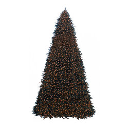"Balsam Hill - 15' Balsam Hill® Rockefeller Pine Pre-Lit Artificial Christmas Tree - Our statuesque Rockefeller Pine artificial Christmas tree is perfect for indoor or outdoor use and makes a luxuriously grand centerpiece for any loft, ballroom, shopping mall concourse or plaza. This 15 foot pre-lit easy setup tree will sparkle and dazzle with its Clear warm lights. Setting up those lights will be a cinch with our Easy Plug� design, which eliminates tangled light strings and automatically connects them through the trunk of the tree. Also included with this tree is a scratch-proof tree stand, soft cotton gloves for shaping the tree, storage bag, extra bulbs and fuses, and an on/off foot pedal for lights. As the best artificial Christmas tree manufacturer that is the #1 choice for set designers for TV shows such as ""Ellen"" and ""The Today Show"", in addition to being a recipient of the Good Housekeeping Seal of Approval, our trees are backed by a 5-year foliage warranty and a 3-year light warranty. Free shipping when you buy today!"