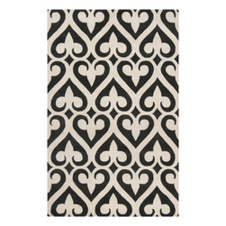 Surya - Hand Tufted Zuna Wool Rug ZUN-1048 - 5' x 8' - Delicate, sophisticated lattice pattern rugs with colors specifically chosen to coordinate with today's home furnishings trends; the creator Jill Rosenwald is the top designer known for beautifully colored, hand-made ceramics. The Zuna pattern, hard-twist texture, and hand-carved details beautifully combine to highlight its simplicity and sophistication.