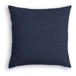Navy Lightweight Linen Custom Throw Pillow - The every-style accent pillow: this Simple Throw Pillow works in any space.  Perfectly cut to be extra fluffy, you'll not only love admiring it from afar but snuggling up to it too! We love it in this luxurious lightweight linen blend with characteristic slubs in navy.  Linen cotton blend will resist wrinkles.