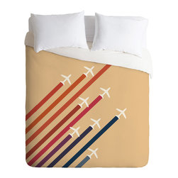 DENY Designs - Budi Kwan Aerial Display Duvet Cover - Turn your basic, boring down comforter into the super stylish focal point of your bedroom. Our Luxe Duvet is made from a heavy-weight luxurious woven polyester with a 50% cotton/50% polyester cream bottom. It also includes a hidden zipper with interior corner ties to secure your comforter. it's comfy, fade-resistant, and custom printed for each and every customer.