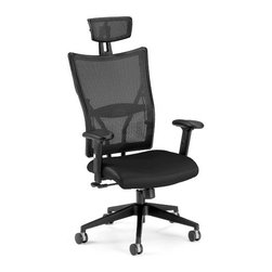 OFM - Talisto Executive High Back Leather/Mesh Office Chair - OFM Ultimate Executive Leather/Mesh Chair 590-L