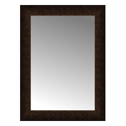 """Posters 2 Prints, LLC - 18"""" x 24"""" Dark Copper Custom Framed Mirror - 18"""" x 24"""" Custom Framed Mirror made by Posters 2 Prints. Standard glass with unrivaled selection of crafted mirror frames.  Protected with category II safety backing to keep glass fragments together should the mirror be accidentally broken.  Safe arrival guaranteed.  Made in the United States of America"""