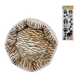 Store51 LLC - Tiger Print Pet Bed Sticker Set 20x20 Puppy Floor Pillow - Features: