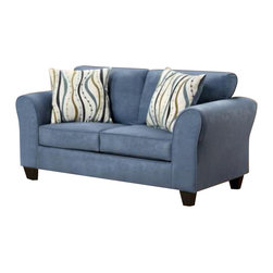 Chelsea Home Furniture - Chelsea Home Lehigh Loveseat in Patriot Blue - Lehigh loveseat in Patriot Blue belongs to the Chelsea Home Furniture collection