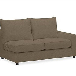 PB Comfort Square Arm Upholstered SectionalRight Arm Loveseat Knife-EdgeEveryday - Built by our own master upholsterers in the heart of North Carolina, this PB Comfort sectional is designed for unparalleled comfort with deep seats and three layers of padding. {{link path='pages/popups/PB-FG-Comfort-Square-Arm-4.html' class='popup' width='720' height='800'}}View the dimension diagram for more information{{/link}}. {{link path='pages/popups/PB-FG-Comfort-Square-Arm-6.html' class='popup' width='720' height='800'}}The fit & measuring guide should be read prior to placing your order{{/link}}. Choose polyester wrapped cushions for a tailored and neat look, or down-blend for a casual and relaxed look. Choice of knife-edged or box-style back cushions. Proudly made in America, {{link path='/stylehouse/videos/videos/pbq_v36_rel.html?cm_sp=Video_PIP-_-PBQUALITY-_-SUTTER_STREET' class='popup' width='950' height='300'}}view video{{/link}}. For shipping and return information, click on the shipping tab. When making your selection, see the Quick Ship and Special Order fabrics below. {{link path='pages/popups/PB-FG-Comfort-Square-Arm-7.html' class='popup' width='720' height='800'}} Additional fabrics not shown below can be seen here{{/link}}. Please call 1.888.779.5176 to place your order for these additional fabrics.