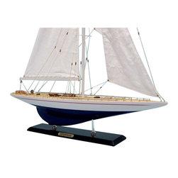 "Handcrafted Model Ships - Enterprise Limited 35"" - Wood Yacht Model - Not a model ship kit"