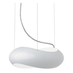 "Vibia - Infinity suspension light Large - Catalog Featured - Product Details:     The Infinity suspension lamp by Vibia was designed by Lievore, Altherr, Molina. This fixture comes available in three finish options and features a polyurethane resin and acrylic diffuser.                                                  Manufacturer:                                           Vibia                                                              Designer:                                          Lievore, Altherr, Molina.                                                              Made in:                                          Spain                                                               Dimensions:                                           large: Height: 78 3/4"" (200 cm) X Width: 17 3/4"" (45.1 cm)                                                              Light Bulb:                                          large: 1 X 55W Fluorescent 2Gx13                                                              Material:                                           Metal"