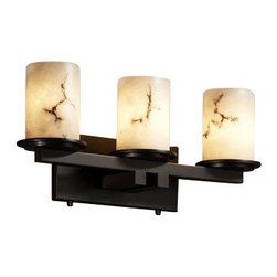 Justice Design Group - Justice Design Group FAL-8773-10 Dakota 3 Light Straight Bar Bathroom Fixture fr - Features: