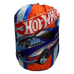 Jay Franco and Sons - Hot Wheels Sleeping Bag Vintage Race Cars Slumber Set - Features: