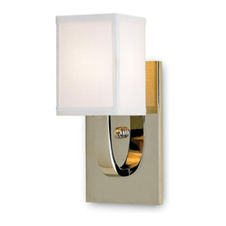 Currey and Company - Sadler Wall Sconce - Does contemporary art deco best describe your decorating style? Then this sophisticated wall sconce has all the urban glamour you need. The clean lines of the shade complement the polished nickel arm and base to give your space a sleek, refined look.