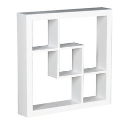 Holly & Martin - Arianna Display Shelf, White - These elegant display cubes are a perfect solution for all your decor needs! This cube display shelf will provide an easy way to update any wall, whether in a traditional or contemporary setting. A cool and contemporary way to show off souvenirs, small treasures or art, this wall cube creates a dynamic arrangement in a living or dining room.