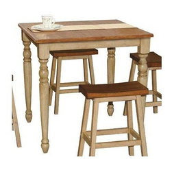Winners Only - Quails Run Square Counter Height Table - Stools sold separately. Almond and wheat finish. Minimal assembly required. 36 in. L x 36 in. W x 36 in. H