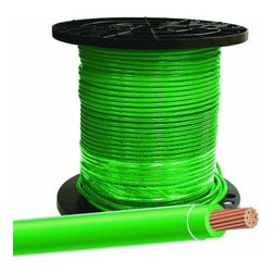 SOUTHWIRE - Wire #8 Strand Green 500'Rol - #8 Stranded 500' Roll, Green