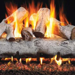 RH Peterson Gas Logs - RH Peterson Designer Series White Birch Gas Logs (24-inch) - Choose Size: 24-inch. Birch wood appearance. Burners not included. Uses natural or propane gas. Vented gas log. Made of refractory ceramic. Lifetime warranty