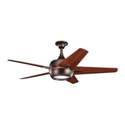 "Kichler - Kichler 300137OBB Makoda 52"" Indoor Ceiling Fan 5 Blades - Remote, Light - Kichler 300137 Makoda Ceiling Fan"