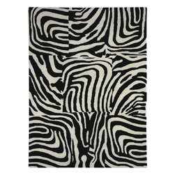 Dynamic Rugs - Dynamic Rugs Nolita 1310-90 (Black, White) 5' x 8' Rug - Dynamic Rugs meets Posh* Fashionation design. The result is the cutting edge look and explosion of colors that create the new Nolita rug collection. Rugs that make a statement and set the tone for the entire room! Each rug is handmade. The designs are created by hand tufting each wool yarn into the canvas creating a 100% wool pile rug. Handmade in India. Each rug is individually washed after construction to add sheen to the surface.