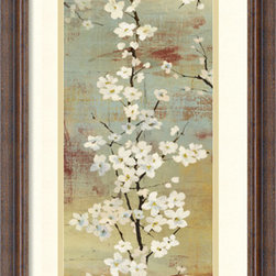 Amanti Art - Asia Jensen 'Blossom Canopy II' Framed Art Print 14 x 26-inch - Bring an earthy flair to your decor with this exquisite piece by Asia Jensen. With subtle shades of brown and grey, Jensen sets the stage for floral elegance.