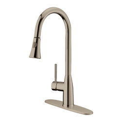 LessCare - Brushed Nickel Finish Pull-Down Kitchen Faucet LK5B, 1 hole / 3 holes - *Country/Region of Manufacture: China