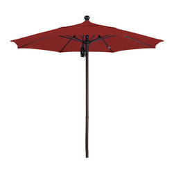 California Umbrella - 7.5 Foot Sunbrella Fabric Aluminum Pulley Lift Patio Umbrella, Bronze Pole - alifornia Umbrella, Inc. has been producing high quality patio umbrellas and frames for over 50-years. The California Umbrella trademark is immediately recognized for its standard in engineering and innovation among all brands in the United States. As a leader in the industry, they strive to provide you with products and service that will satisfy even the most demanding consumers.