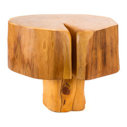 Patron Design - Patagonian Salvaged Cypress Side Table - Experience Patagonia without actually being there and forever enjoy the beauty of its native Cypress.