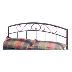 """Hillsdale Furniture - Hillsdale Wendell Panel Headboard in Black - Twin - A simple, yet striking design combining a contemporary outer frame and traditional scroll and spindle grill. Textured black powder coat finish fully welded construction featuring 1 1/ 4"""" round outer frame and 3/ 4"""" round cross members."""