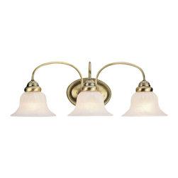 Livex - Livex 1533-01 Edgemont Bath Lighting In Antique Brass - Livex 1533-01 Edgemont Bath Lighting In Antique Brass