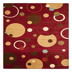 Safavieh - Porcello Red and Multi-Colored  Rectangular: 8 Ft. x 11 Ft. Rug - - Fun colors and fetching flower-petal floral designs give this rug a creative style that's sure to bring life to any room. Soft polypropylene fibers provide a dense pile, designed to withstand high-traffic living rooms, dining spaces and hallways.  - Please note this item has a 30-day manufacturer's limited warranty that covers product defects. Inspect your purchase upon delivery & notify us immediately with any concerns. Safavieh - PRL6851-4091-8