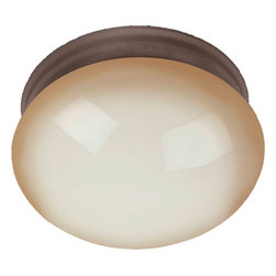 Maxim Lighting - Maxim Lighting 5886WSOI Oil Rubbed Bronze Flush Mount - 1 Bulb, Bulb Type: 60 Watt Incandescent