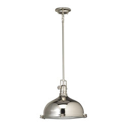 Kichler - Kichler No Family Association Unique Pendant Light Fixture in Polished Nickel - Shown in picture: Pendant 1Lt in Polished Nickel