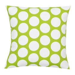 Look Here Jane, LLC - Dandi Dot Chartreuse Pillow Cover - PILLOW COVER