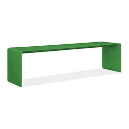 Cooper Aluminum Bench, Green - This bench would work great in a mudroom. Kelly green has long been my favorite shade.