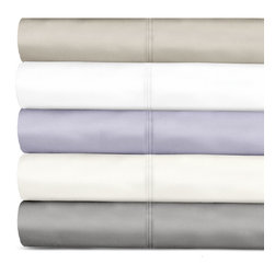 Grand Luxe - Grand Luxe 600 Thread Count Tencel Deep Pocket Sheet Set and Pillowcase Separate - Relax in comfort with this luxurious 600 thread count sheet set offering optimum moisture transportation for skin's well-being. The sheets come from a natural cellulose fiber made from sustainably harvested eucalyptus trees.