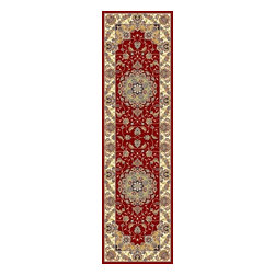 "Safavieh - Traditional Lyndhurst Hallway Runner 2'3""x12' Runner Red - Ivory Area Rug - The Lyndhurst area rug Collection offers an affordable assortment of Traditional stylings. Lyndhurst features a blend of natural Red - Ivory color. Machine Made of Polypropylene the Lyndhurst Collection is an intriguing compliment to any decor."