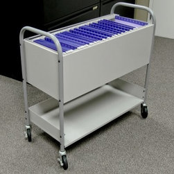 Marvel Utility Cart - Gray - Store and transport your most important mail and documents in the Marvel Utility Cart - Gray. This portable piece fits hanging folders for A4, letter-, and legal-sized paper and has oversized casters for a smooth and stable roll.