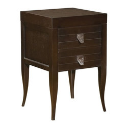 Hekman Furniture - Accents Lamp Table w 2 Drawers - Square shape. Drawers with leather pulls. Veneer top. Warranty: One year. Special reserve finish. 19 in. W x 19 in. D x 30 in. H