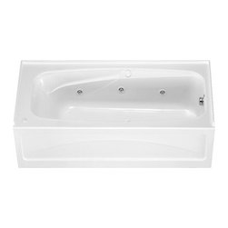 """American Standard - American Standard 1748.118.020 White Colony Colony 66"""" Acrylic - Product Features:Covered under a 2 year warranty, including in-home serviceManufactured and assembled in the United States of AmericaWhirlpool tub; legendary massage jetted actionAlcove installation: designed for niche / alcove installs; the three closed sides include a tile flange, open side includes a skirt leading down to the floorConstructed of ultra-durable fiberglass-reinforced acrylicSurfaced with the industry s best stain-blocking high-gloss finishTub proportions and contour designed by industry leading ergonomics engineersSlip-resistant flooring - textured finishing technique appliedTub waste (drain) is not included - this will be presented upon adding to cart, with multiple available finishesLuxury Bathing Experience:Whirlpool: Legendary for a reason, Whirlpool systems push air-induced water through strategically placed jets to target muscles that hold tension. They are so effective at relieving tension that they're widely used in sports and rehabilitation medicine. In the home, they provide for a retreat and relief from stress that is unlike any other.Technologies / Benefits:Simple Controls: A single button turns the whirlpool system on and off while two dials (one for each side of the tub) operate the whirlpool system power, from a gentle swirl to a deep-tissue massage. Perfectly simple.AcuMassage Jets: This state-of-the-art whirlpool system includes strategically placed AcuMax and AcuMotion jets. AcuMax jets move wide streams of water at a lower pressure for a deep tissue massage while AcuMotion rotary jets deliver more targeted swirling streams to invigorate areas such as your feet.Silent Air Induction: Whirlpool jets don't push just water – they push air too. In fact, it is the air"""