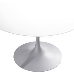 Knoll - 47-inch Round Saarinen Dining Table - Imagine infinity with this stunning table, designed by the inimitable Eero Saarinen.This iconic dining table is the epitome of elegant midcentury design. With the simplicity of an open palette, the blank, round surface provides endless possibilities for your dining room decor.