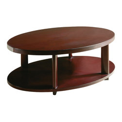 Baker Furniture - Oval Coffee Table - Graciously scaled, the oval coffee table slips seamlessly into any grouping. Modern but warm, it recalls the Deco period of the 1940s.