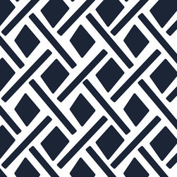 Stencil Ease - Duxbury Wall Painting Stencil - The Duxbury Stencil is a bold and traditional pattern. Use this design pattern to make a statement in your room, design project or diy project. Try stenciling on Furniture, lamp shades, fabric, walls, floors. The possibilities are endless!