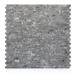 """Glass Tile Oasis - Madrid Unique Shapes Black Modern Series Tumbled Natural Stone - Sheet size:  12"""" x 12""""        Tile Size:  1/2""""        Tile thickness:  3/8""""        Sheet Mount:  Mesh Backed        Stone tiles have natural variations therefore color may vary between sheets.    Sold by the sheet    -  During manufacturing  the tiles are hand sorted into matching colors and sizes and individually glued onto mesh backing. It is not unusual to find occasional imperfections  veins and lines of separation within the stones."""