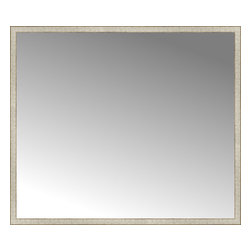"""Posters 2 Prints, LLC - 71"""" x 61"""" Libretto Antique Silver Custom Framed Mirror - 71"""" x 61"""" Custom Framed Mirror made by Posters 2 Prints. Standard glass with unrivaled selection of crafted mirror frames.  Protected with category II safety backing to keep glass fragments together should the mirror be accidentally broken.  Safe arrival guaranteed.  Made in the United States of America"""