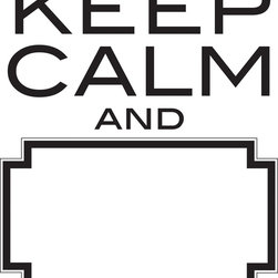 """WallPops - Keep Calm Dry Erase Wall Quote Decals - The original mantra is to """"Keep Calm and Carry On"""" but this fun wall decal has a fresh twist! It's a dry-erase version so that people can fill in their own ending to this classic motto. Have fun with your Decor, improvising different conclusions and notes on the dry-erase message board like a Mad Lib for your walls. This interactive wall decal comes with a dry-erase marker."""