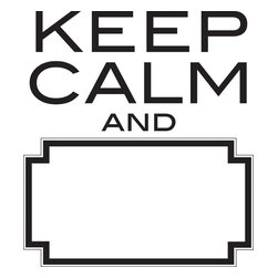 "WallPops - Keep Calm Dry Erase Wall Quote Decals - The original mantra is to ""Keep Calm and Carry On"" but this fun wall decal has a fresh twist! It's a dry-erase version so that people can fill in their own ending to this classic motto. Have fun with your Decor, improvising different conclusions and notes on the dry-erase message board like a Mad Lib for your walls. This interactive wall decal comes with a dry-erase marker."